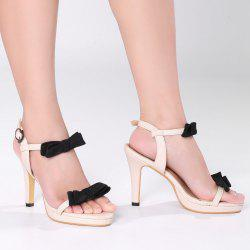 Bowknot High Heel Sandals