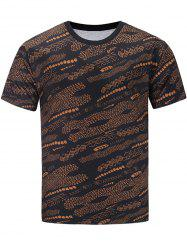 Short Sleeve Geometric Print Hand Painted T-shirt