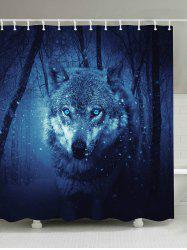 Snow Wolf Anti-bacteria Fabric Shower Curtain