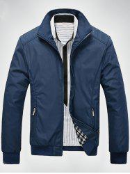 Zip Up Casual Bomber Jacket -