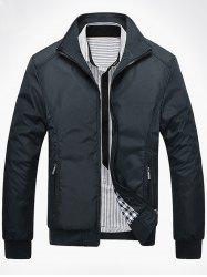Zip Up Casual Bomber Jacket