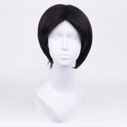 Short Center Part Straight Synthetic Wig