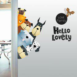 Animals Family Cartoon Vinyl Wall Sticker For Kids - COLORMIX