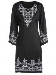 Tribal Print Plus Size T Shirt Dress