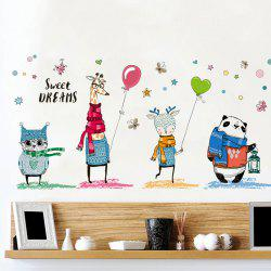 Cartoon Animal Wall Sticker Kids Room Decor