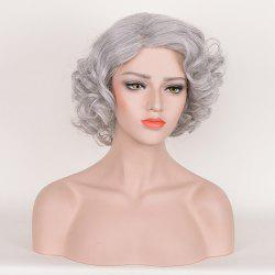Short Side Bang Fluffy Curly Tyler Perry Cosplay Synthetic Wig - SMOKY GRAY