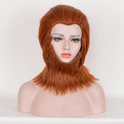 Short Layered Straight Fuzzy Sun Wukong Cosplay Synthetic Wig