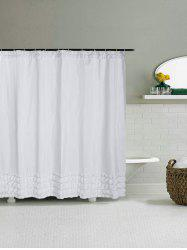 Ruffle Unique Polyester Bath Decor Shower Curtain