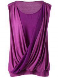 Sleeveless Surplice Plus Size Top