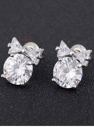 Faux Diamond Tiny Bowknot Stud Earrings