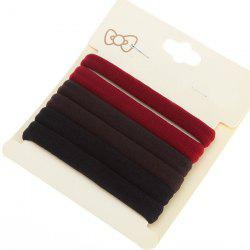 6PCS Rope Elastic Hair Bands - COLORMIX