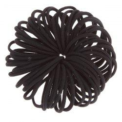 50PCS Rope Elastic Hair Bands - BLACK