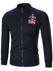 The Union Flag Print Zip Up Jacket -