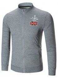 The Union Flag Print Zip Up Jacket