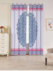 2 Panels Set Blackout Bohemian Mandala Window Curtains