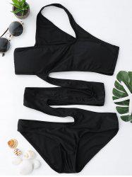 One Shoulder Cut Out Swimsuit