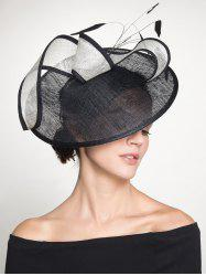 Ribbon Feather Cambric Cocktail Hat
