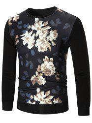 Flower Printed Long Sleeve T-shirt