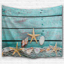 Wood Grain Conch Wall Decor Hanging Tapestry