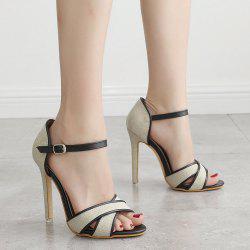 Ankle Wrap Canvas Sandals -