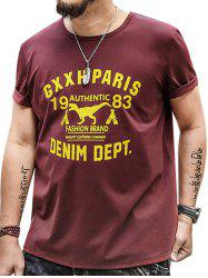 Graphic Print Plus Size T-shirt -