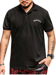 Plus Size Embroidered Polo Shirt