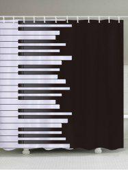 Piano Print Fabric Waterproof Bathroom Shower Curtain