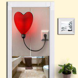Heart Shaped Balloon Light Print Home Door Curtain