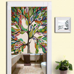 Home Product Artistic Colorful Tree Door Curtain