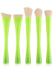 5Pcs Waisted Handle Facial Makeup Brushes Kit