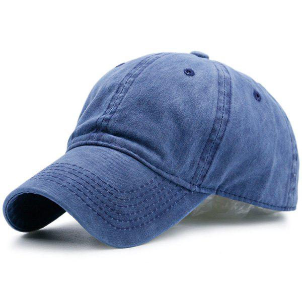Nostalgic Baseball Lines Embroidery CapACCESSORIES<br><br>Color: BLUE; Hat Type: Baseball Caps; Group: Adult; Gender: For Men; Style: Fashion; Pattern Type: Solid; Material: Polyester; Weight: 0.1000kg; Package Contents: 1 x Hat;