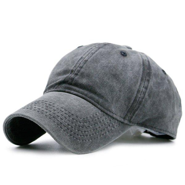 Nostalgic Baseball Lines Embroidery CapACCESSORIES<br><br>Color: DEEP GRAY; Hat Type: Baseball Caps; Group: Adult; Gender: For Men; Style: Fashion; Pattern Type: Solid; Material: Polyester; Weight: 0.1000kg; Package Contents: 1 x Hat;