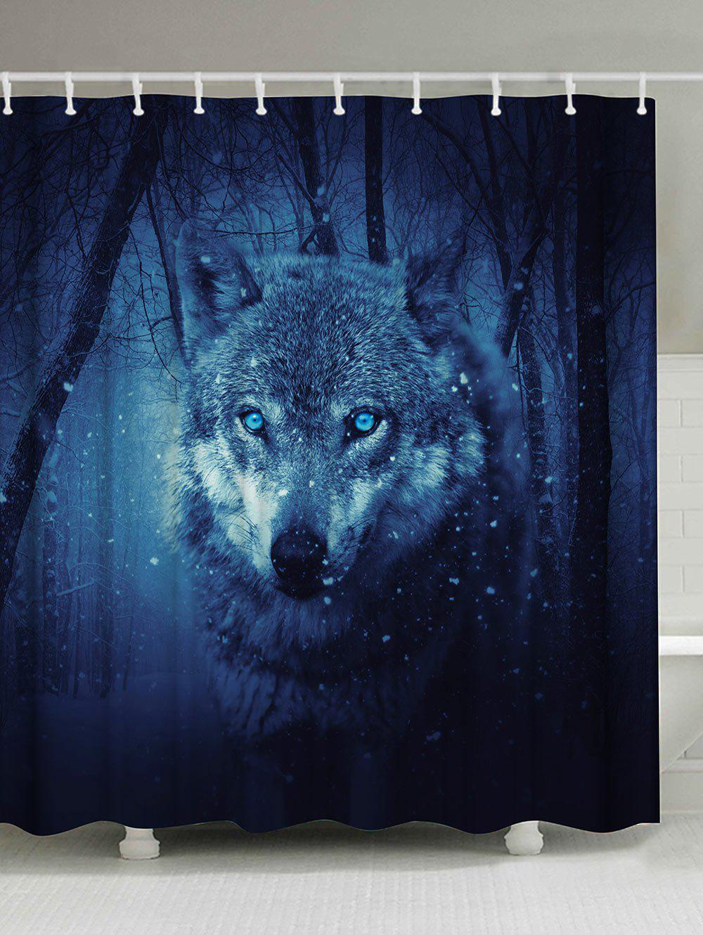 Midnight W59 Inch * L71 Inch Snow Wolf Anti-bacteria Fabric Shower ...