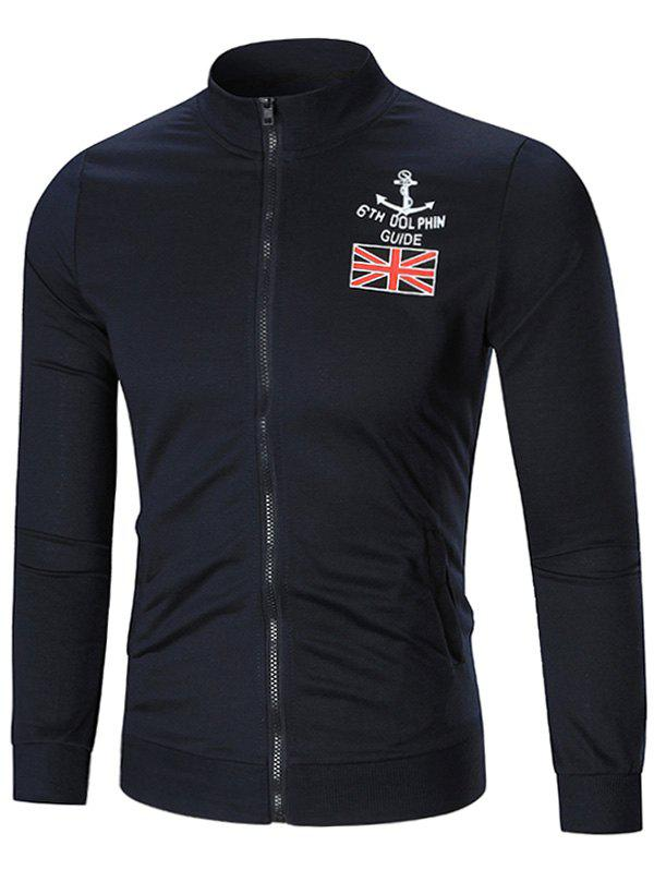 New The Union Flag Print Zip Up Jacket