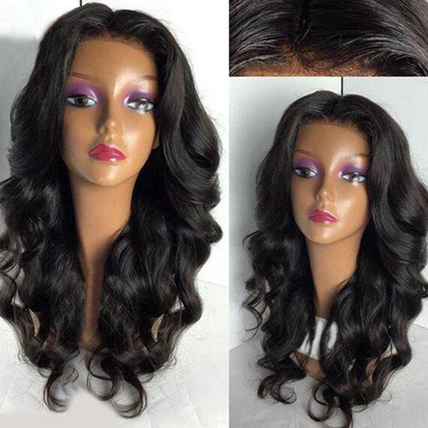 Shop Long Center Part Fluffy Loose Wave Lace Front Synthetic Wig