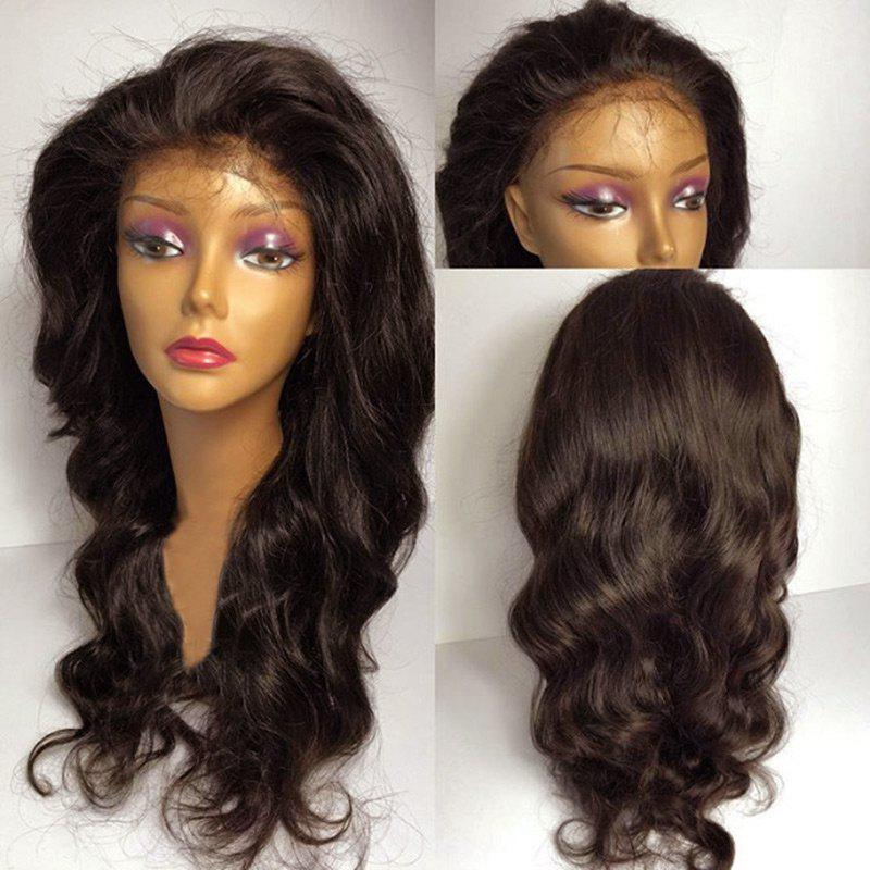 Chic Long Fluffy Free Part Wavy Lace Front Synthetic Wig
