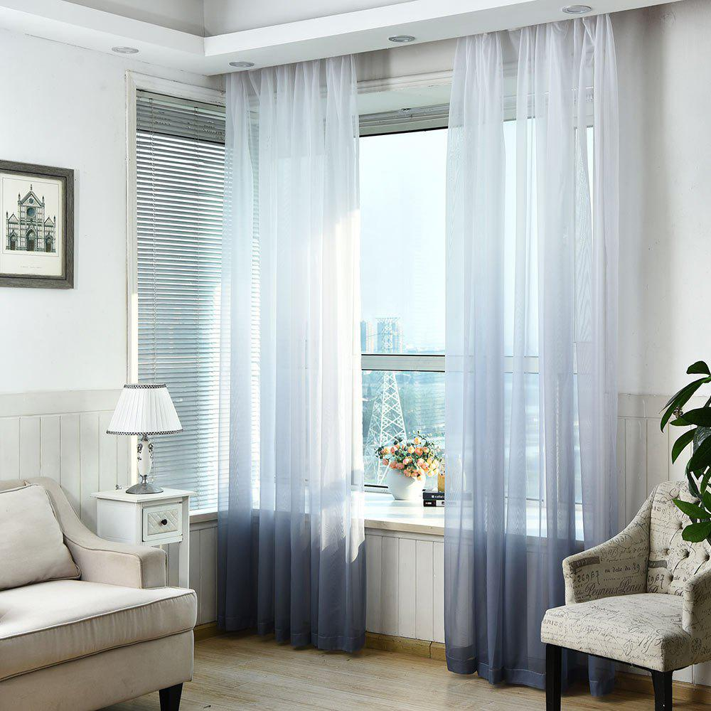 smoky gray w59 inch l98 5 inch 1pc transparent gradient color voile window curtain. Black Bedroom Furniture Sets. Home Design Ideas