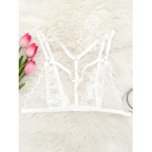 Cut Out Caged Lace Bralette