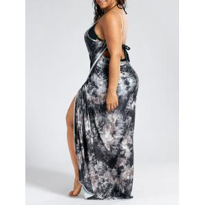 Plus Size Wrap Cover Up Maxi Dress -