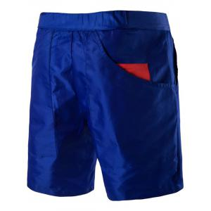 Plastic Buckle Embellished Zipper Fly Polyester Shorts -