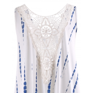 Lace Insert Maxi Sleeveless For Summer - WHITE 2XL