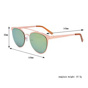 Anti UV Reflective Oversized Sunglasses with Box - GREEN