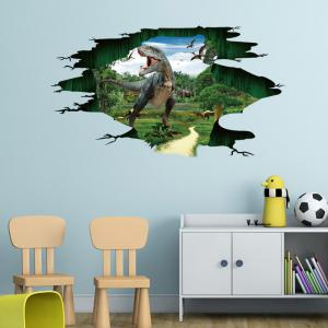 Removable 3D Jurassic Dinosaur Wall Sticker For Kids