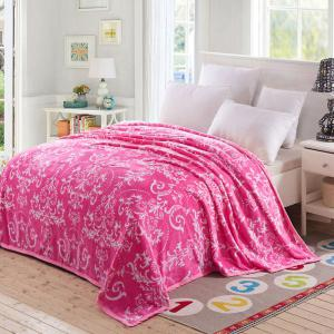 European Style Floral Print Soft Throw Blanket
