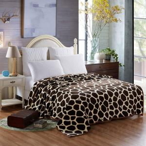 Giraffe Stripes Summer Europe Style Throw Blanket - Giraffe - Queen