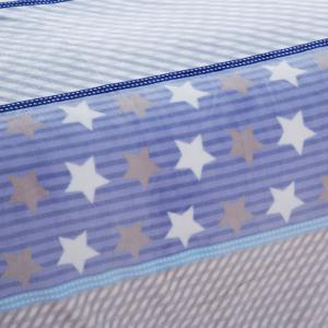 Spring Summer Star Print Soft Throw Blanket - BLUE FULL