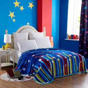 Spring Summer Stripe and Star Pattern Blanket