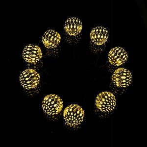 Garden Decoration 10PCS LED Morocco Solar String Lights - WARM WHITE LIGHT