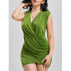 Bodycon Low Cut Club Draped Dress