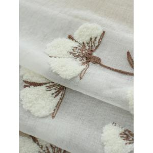 Sheer Tulle Floral Embroider Curtain For Living Room -